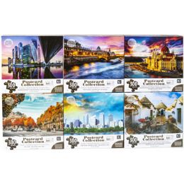 6 Units of Puzzle 300pc Postcard Collection 6 Titles Size 24x18 See n2 - Puzzles