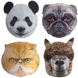 12 Units of Mask 3d Animal Realistic Jumbo Face 4ast Styles W/elastic Band - Costumes & Accessories