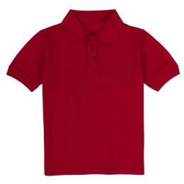 24 Units of Kid's Short Sleeve Polo - Red- Size 10-12 - Apparel