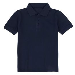24 Units of Kid's Short Sleeve Polo - Navy- Size 10-12 - Apparel