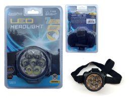 48 Units of Led Headlight 7 Head W/Black Strap; - Lightbulbs