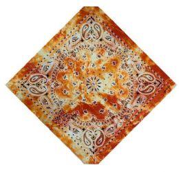 120 Units of Orange Tye Dye Bandana - Bandanas