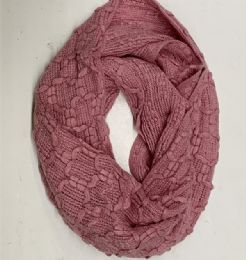 24 Units of Women Infiniti Scarf In Assorted Colors - Winter Scarves