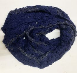 36 Units of Women Infiniti Scarf In Assorted Colors - Winter Scarves