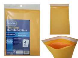 96 Units of 4pc Self-Seal Bubble Mailers 0# - Envelopes