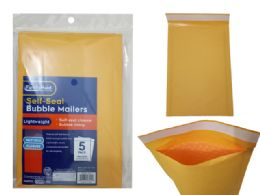 96 Units of 5pc Self-Seal Bubble Mailers 000# - Envelopes