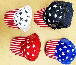 36 Units of Flags Mesh ball Cap - Baseball Caps & Snap Backs