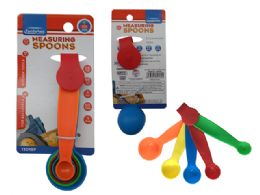 144 Units of Measuring Spoons 5pc Asst Clr - Measuring Cups and Spoons