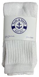 240 Units of Yacht & Smith Kids White Cotton Tube Socks Size 4-6 - Boys Crew Sock