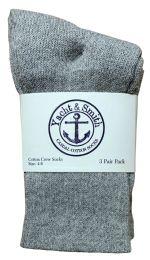 240 Units of Yacht & Smith Kids Cotton Crew Socks Gray Size 4-6 - Boys Crew Sock