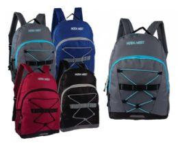 "24 Units of 17"" Bungee Wholesale Backpack - Backpacks 17"""