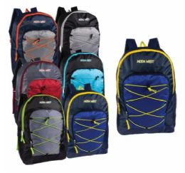 """24 Units of 17"""" Bungee Backpacks with Side Mesh - Backpacks 17"""""""