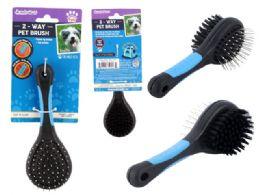 96 Units of 2-Way Pet Brush - Pet Grooming Supplies