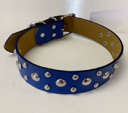60 Units of Large Dog Collar Color Assorted - Pet Collars and Leashes