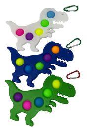 24 Units of Dinosaur Simple Dimple Fidget Pops Assorted - Fidget Spinners