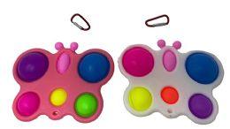 24 Units of Butterfly Simple Dimple Fidget Pops - Fidget Spinners