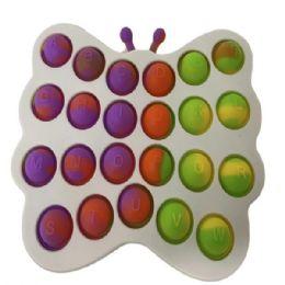 24 Units of Butterfly Simple Dimple Bush Pop - Fidget Spinners