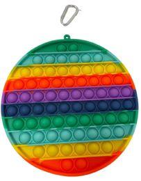 12 Units of Popsicles Rainbow Round Push Pop - Fidget Spinners