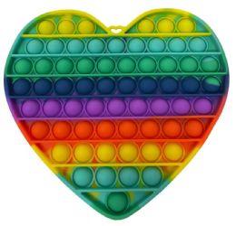 12 Units of Heart Shape Push Pop - Fidget Spinners