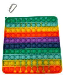 12 Units of Rainbow Square Push Pop - Fidget Spinners