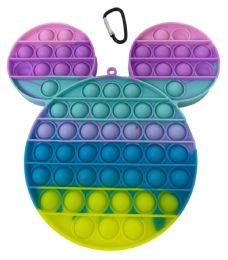 12 Units of Macaron Mickey Push Pop - Fidget Spinners