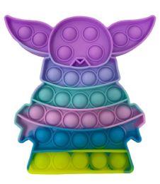 24 Units of Macaron Yoda Push Pop - Fidget Spinners