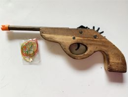 36 Units of Wooden Gun Shutting Robber band - Toy Weapons