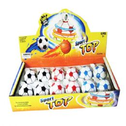 72 Units of Top Spinner Assorted Color - Light Up Toys