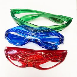 96 Units of Kids Spider Glass Color Assorted - Light Up Toys