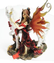 12 Units of Fairy Riding Red And Black - Home Decor