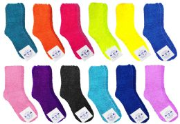 48 Units of Yacht & Smith Butter Soft Womens Cozy Fuzzy Socks, Sock Size 9-11 - Womens Fuzzy Socks