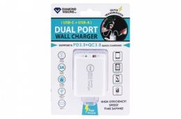 12 Units of PD Fast Charge Dual USB Wall Charger - Chargers & Adapters