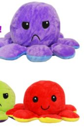 72 Units of Reversible Plush Octopus - Plush Toys