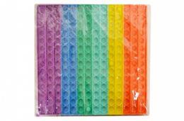 4 Units of Bubble Pop Toy Jumbo Rainbow Square - Fidget Spinners