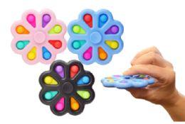 24 Units of Bubble Pop Toy Spinner Flower - Fidget Spinners