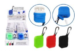24 Units of Waterproof Airpod Case With Carabiner - Headphones and Earbuds