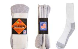 24 Units of Fruit Of The Loom Work Socks 2 Pairs - Mens Ankle Sock