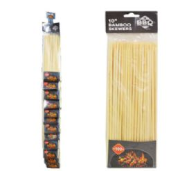 72 Units of Bamboo Skewers On Clip Strip 100 Count - Kitchen Gadgets & Tools
