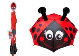 12 Units of Childrens Umbrella Lady Bug - Umbrellas & Rain Gear