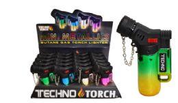 40 Units of Jet Torch Lighter Metallic - Lighters