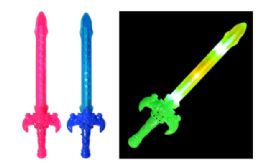 48 Units of LED Wand Sword 15 Inches - Light Up Toys