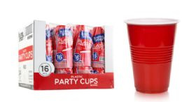 48 Units of Plastic Party Cups 16 Ounce 16 Count - Pet Grooming Supplies