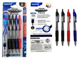 144 Units of 4pc Retractable Gel Pen - Pens