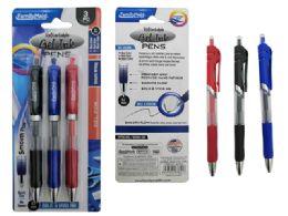 144 Units of 3pc Retractable Gel Pen - Pens