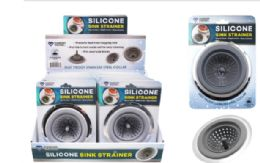 24 Units of Silicone Sink Strainer With Stainless Steel Rim - Strainers & Funnels