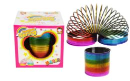 72 Units of Slinky Boxed Metallic Rainbow - Light Up Toys