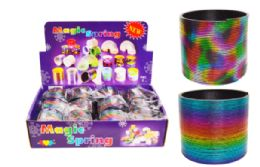 72 Units of Slinky Metallic Rainbow - Light Up Toys
