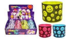72 Units of Slinky Smiley Face - Novelty Toys