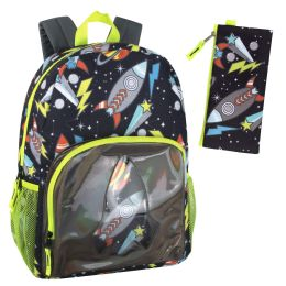 """24 Units of 17 Inch Outer Space Backpack - With Pencil Pouch - Backpacks 17"""""""