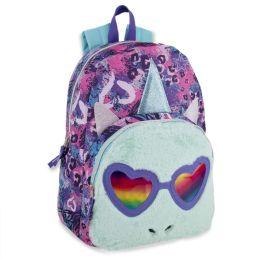 "24 Units of 17 Inch Aqua Fur Unicorn Shade Backpack - Backpacks 17"""